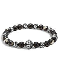 John Hardy - Sterling Silver Classic Chain Apache Gold Bead Bracelet - Lyst