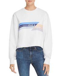 Rag & Bone - Glitch Logo Cropped Sweatshirt - Lyst