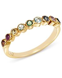 Shebee - 14k Yellow Gold Multicolour Sapphire Band - Lyst
