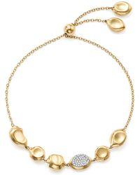 Ippolita | 18k Yellow Gold Onda Diamond Pebble And Chain Bracelet | Lyst