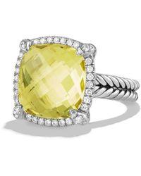 David Yurman - Châtelaine Pavé Bezel Ring With Lemon Citrine And Diamonds - Lyst