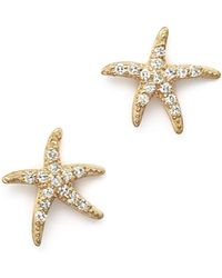 KC Designs - Diamond Starfish Earrings In 14k Yellow Gold - Lyst
