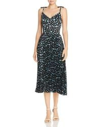 Betsey Johnson - Pleated Floral Print Dress - Lyst