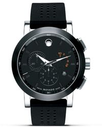 """Movado - """"museum®"""" Sport Stainless Steel Chronograph Watch, 44mm - Lyst"""