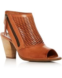 Paul Green - Women's Willow Leather Open Toe High Heel Booties - Lyst