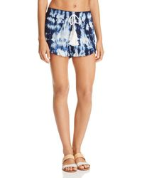 Surf Gypsy - Tie-dyed Tassel Swim Cover-up Shorts - Lyst