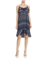 Vince Camuto - Ditsy Liberty Printed Ruffle Dress - Lyst