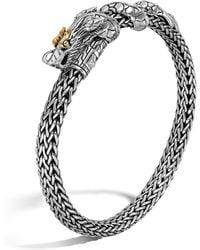 John Hardy | Sterling Silver & 18k Gold Naga Dragon Bracelet | Lyst