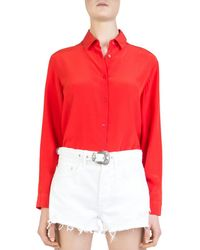 The Kooples - Button-down Blouson Bodysuit - Lyst