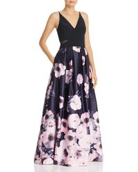 efb62586f75a7 Betsy & Adam - Floral Ball Gown - Lyst
