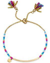 Rebecca Minkoff - Sole Beaded Slider Bar Bracelet - Lyst