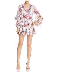 MISA - Cecilia Floral Mini Dress - Lyst