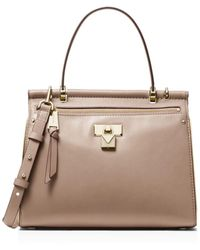 906aa6803d MICHAEL Michael Kors Medium Camille Satchel in Pink - Lyst
