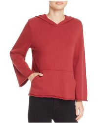 Michelle By Comune - Hillsdale Bell Sleeve Hooded Sweatshirt - Lyst
