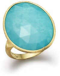 Marco Bicego - 18k Yellow Gold Turquoise Ring - Lyst