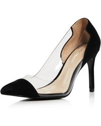 Charles David - Women's Genuine Suede Illusion Pointed Toe Court Shoes - Lyst