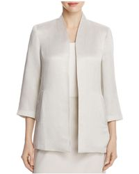 Eileen Fisher - Three-quarter Sleeve Jacket - Lyst