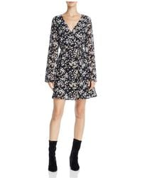 June & Hudson - Floral Print Faux Wrap Dress - Lyst