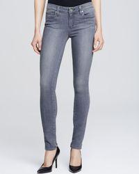 PAIGE - Denim Silvie Transcend Verdugo Jeans In Light Grey - Lyst