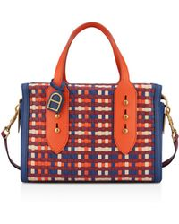 Anne Klein - Collar Pin Woven Leather Satchel - Lyst