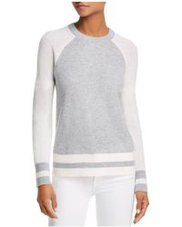 Aqua - Color-block Raglan Cashmere Sweater - Lyst