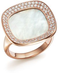 Roberto Coin - 18k Rose Gold Carnaby Street Diamond And Mother-of-pearl Ring - Lyst