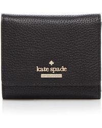 Kate Spade - Jackson Street Jada Pebbled Leather Trifold Wallet - Lyst