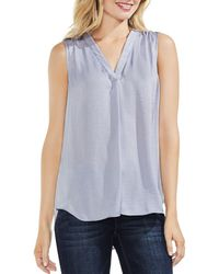 Vince Camuto - Textured V-neck Top - Lyst