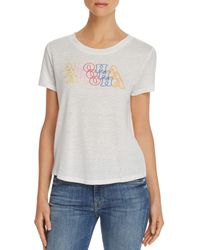 Honey Punch - Aloha Embroidered Tee - Lyst