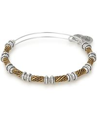 ALEX AND ANI - Quill Two-tone Expandable Wire Bangle - Lyst