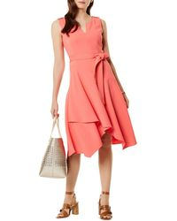 Karen Millen - Fluid Day Dress - Lyst