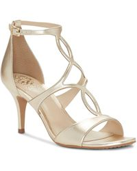 Vince Camuto - Women's Payto Leather High Heel Sandals - Lyst