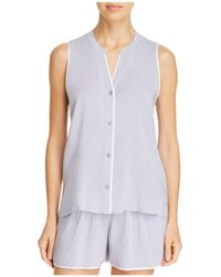 Donna Karan - Sleeveless Top & Boxers Set - Lyst