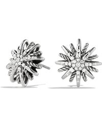 David Yurman - Starburst Small Earrings With Diamonds - Lyst