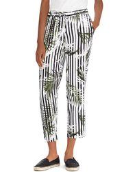 Ralph Lauren - Lauren Printed Drawstring Crop Pants - Lyst