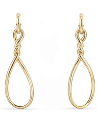 David Yurman - Continuance Large Drop Earrings In 18k Gold - Lyst