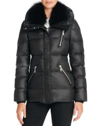 Andrew Marc - Fox Fur-trim Short Down Coat - Lyst