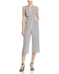Aqua - Twist Detail Striped Jumpsuit - Lyst