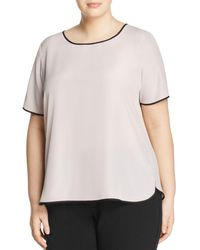 Marina Rinaldi - Balsamo Contrast-piping Top - Lyst