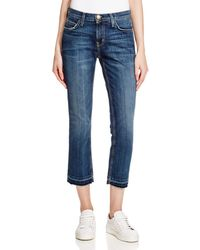 Current/Elliott - Cropped Straight Jeans In Loved - Lyst