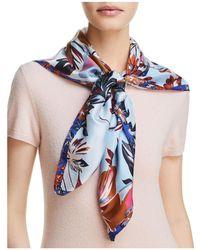Echo - Highgate Floral Silk Square Scarf - Lyst