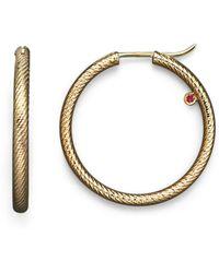 Roberto Coin | 18k Yellow Gold Hoop Earrings | Lyst