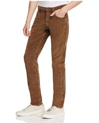 PAIGE - Federal Slim Fit Corduroy Trousers - Lyst