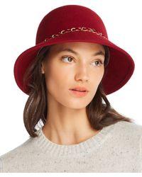 August Hat Company - Feelin It Chain-trim Wool Cloche - Lyst