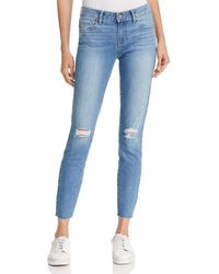 PAIGE - Vertigo Skinny Ankle Jeans In Healy Destructed - Lyst