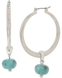 Robert Lee Morris - Turquoise Hoop Drop Earrings - Lyst