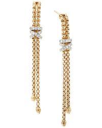 3ef11cddad712 18k Yellow Gold Helena Chain Earrings With Diamonds