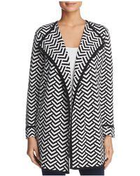 Avec - Chevron Print Sweater Jacket - Lyst