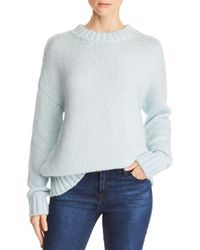 French Connection - Snuggle Knits Openwork Crewneck Sweater - Lyst
