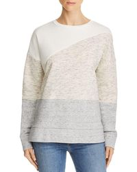 French Connection - Color-blocked Crewneck Sweatshirt - Lyst